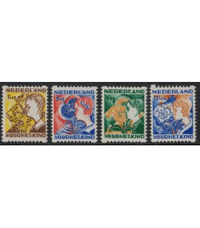 R94 t/m R97 Kinderzegels (xx)
