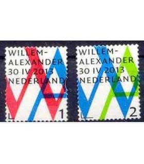 3057 - 3058 Willem Alexander Inhuldigingszegel (xx)