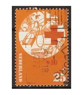 1017 Rode Kruis zegel (o)