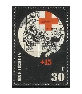 1018 Rode Kruis zegel (o)