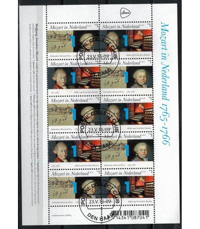 3414 - 3415 Mozart orgel-bladmuziek (o)