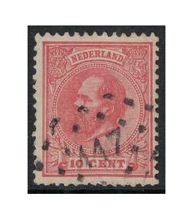 021 Koning Willem III (o) puntstempel 117