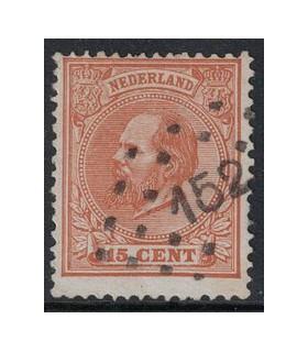 023D Koning Willem III (o) puntstempel 152