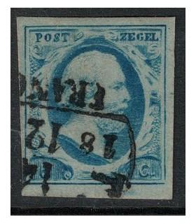 001 Koning Willem III (o) plaat III pos. 17