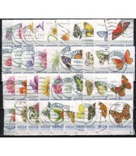 3012 Ac Vlinders en Bloemen alle 40stuks (o)