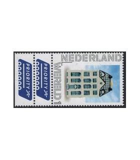 2899 KLM Huisje Wereld dubbele TAB (xx)