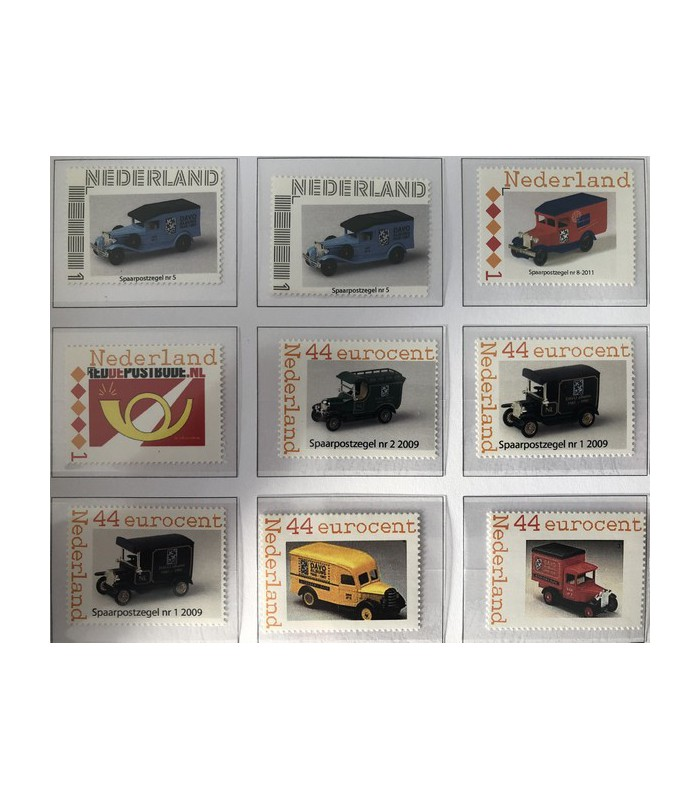 Spaarpostzegels 9 stuks (xx)