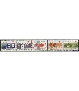 795 - 799 Rode Kruiszegels (x)