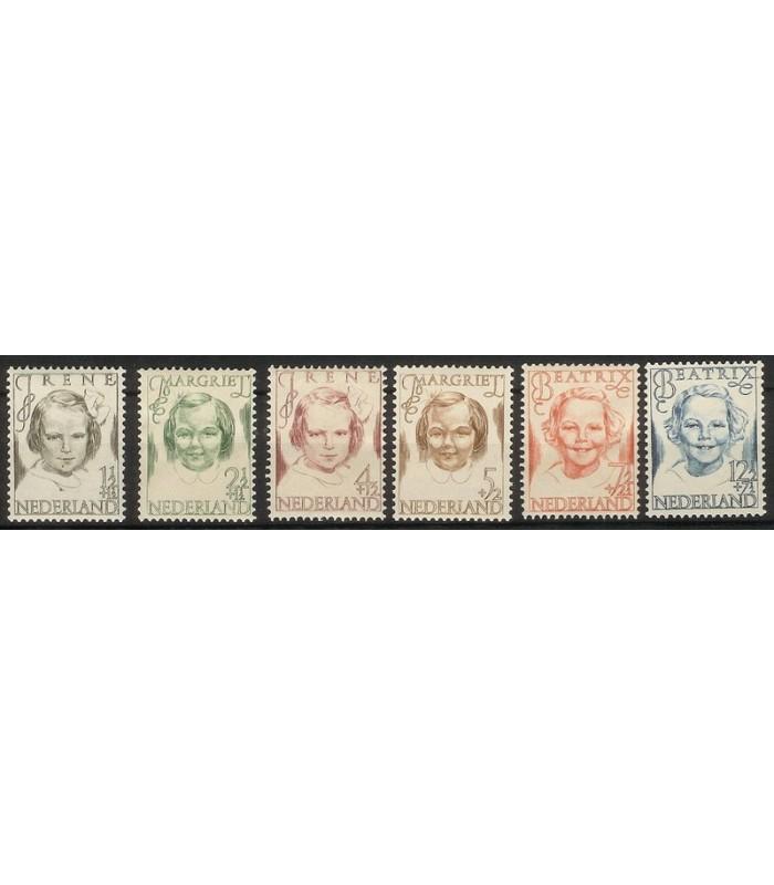 454 - 459 Princessenzegels (xx)