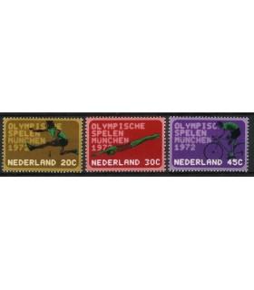 1012 - 1014 Olympiade-zegels (xx)