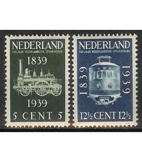 325 - 326 Spoorwegjubileumzegels (x)