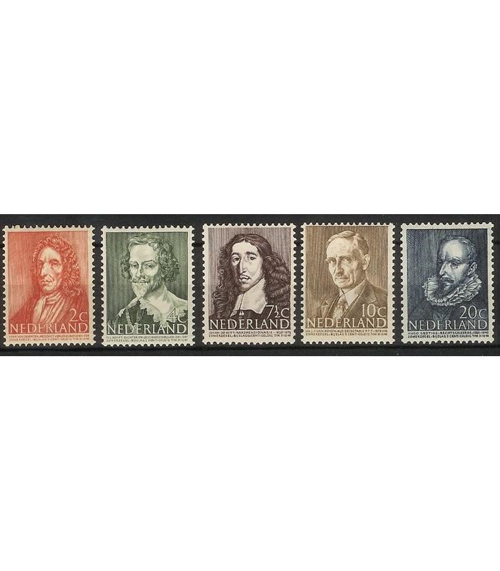 490 - 494 Zomerzegels (xx)