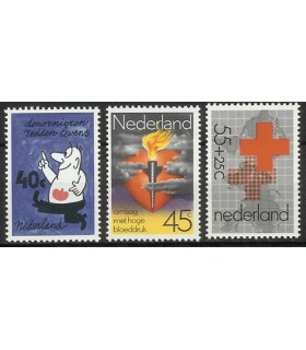 1161 - 1163 Rode Kruis zegels (xx)