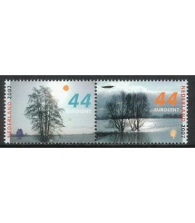 2528 - 2529a Bomen in de winter (xx)
