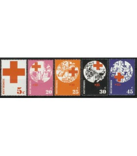 1015 - 1019 Rode Kruis zegels (xx)