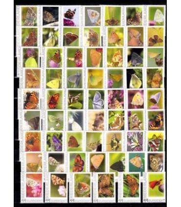 2563 Ae-01 tm Ae-62 Complete serie vlinders (xx)