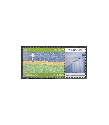 2076 Provinciezegel TAB (o) windmolens