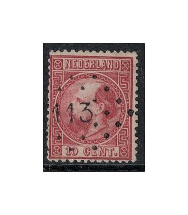 008 Koning Willem III (o) puntstempel 113