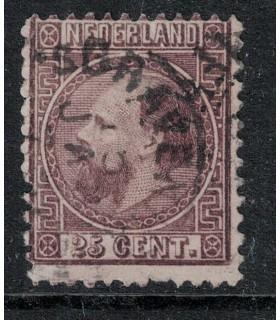 011 Koning Willem III (o) rondstempel