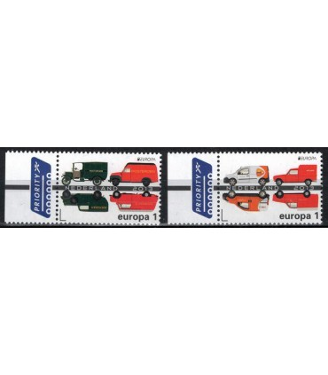 3055 - 3056 Postauto modern oud Europazegel (o)