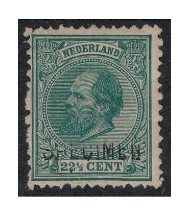 025 Koning Willem III (o) 4. opdruk specimen