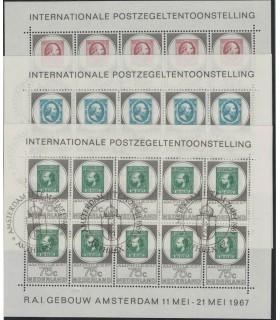 0886 - 888 Amphilexzegels (o)