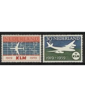 729 - 730 KLM-zegels (xx)