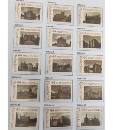 2562 Aa-01 - 25 Kastelen in Nederland (xx)