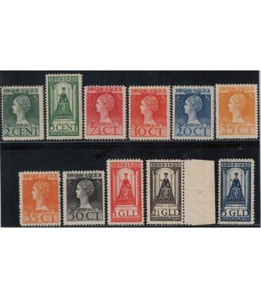 121 - 131 Jubileumzegels (xx) certificaat