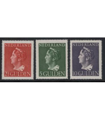347 - 349 Koningin Wilhelmina (xx) 4. incl. certificaat