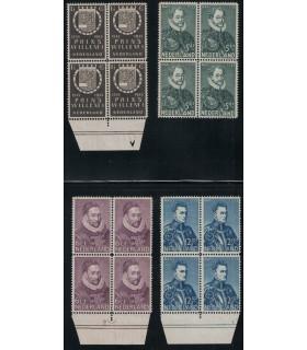 252 - 255 Herdenkingszegel (xx) blok van vier
