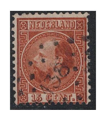 009 Koning Willem III (o) puntstempel 138.