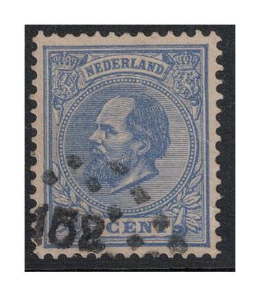 019 Koning Willem III (o) puntstempel 158