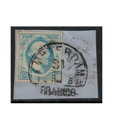001 Koning Willem III (o) briefstukje