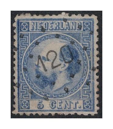 007 Koning Willem III (o) puntstempel 120
