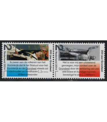 3171 -3172 Grondwet Koning Willem I (xx) duo
