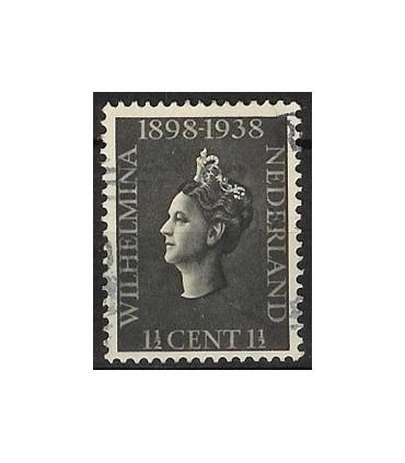 310 Jubileumzegel Wilhelmina (o)
