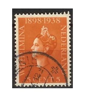 311 Jubileumzegel Wilhelmina (o)