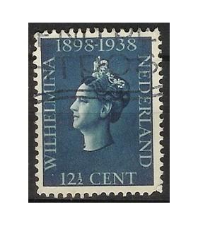 312 Jubileumzegel Wilhelmina (o)