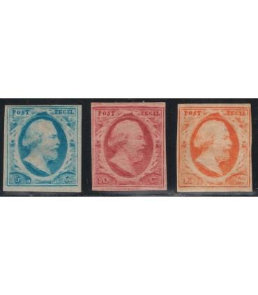 001 - 003 Koning Willem III (x) certificaat