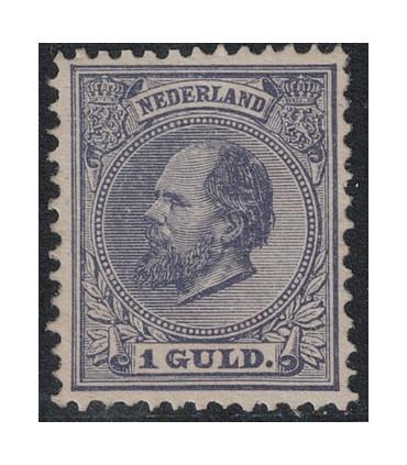 028 Koning Willem III (xx) nagegomd