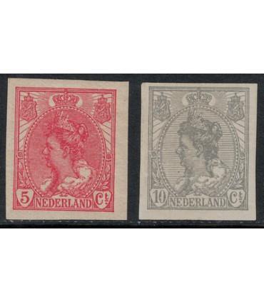 082 - 083 Koningin Wilhelmina (xx)