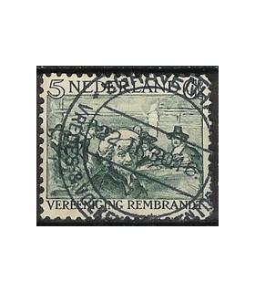229 Rembrandt zegel (o)