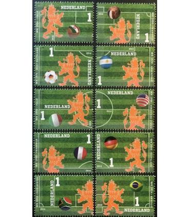 3187 - 3196 Oranje op het WK Voetbal (xx)