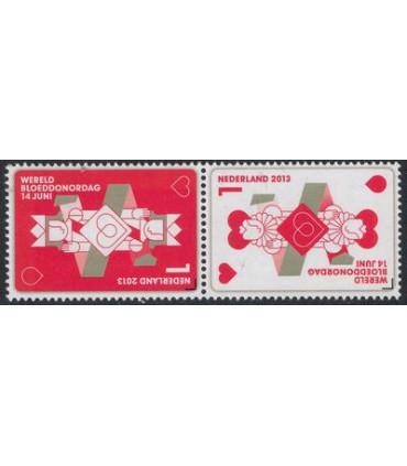 3067 - 3068 Bloeddonordag (xx) paar