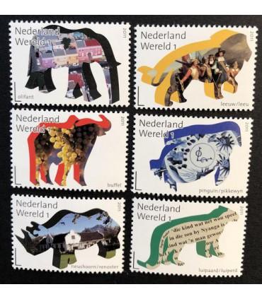 2844 - 2849 Grenzeloos Zuid-Afrika 2011 (xx)