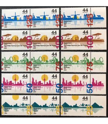 2708 - 2712 Jubileumzegels (xx)