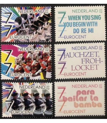 2652 - 2657 Muziek in Nederland los (xx)