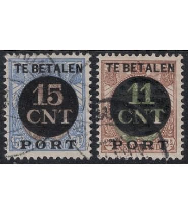 1 en 2 Postpakketverrekenzegel (o) 4.