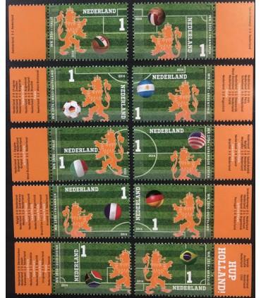3187 - 3196 Oranje op het WK Voetbal (xx) TAB